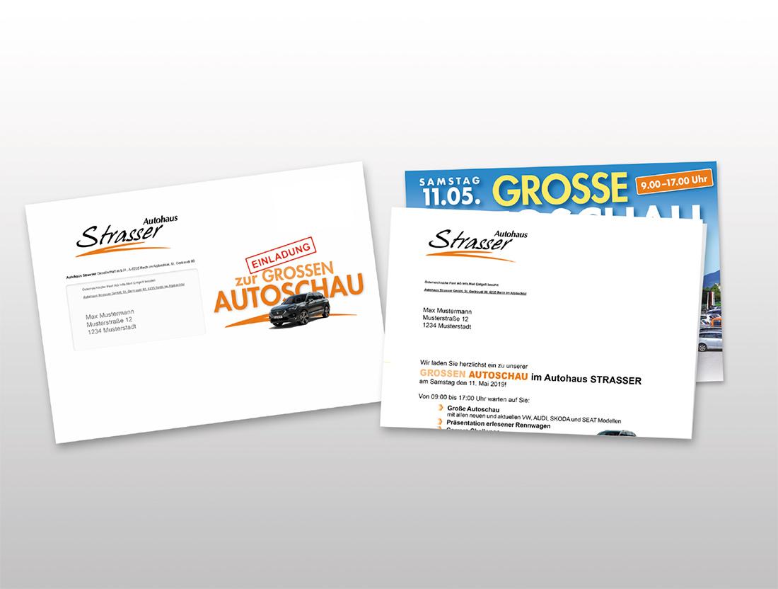 Strasser Package Einladung Frühjahrsautoschau