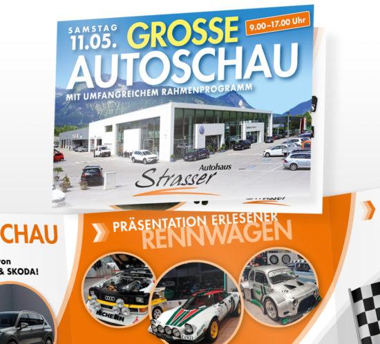 Strasser Einladung Frühjahrsautoschau Detailbild